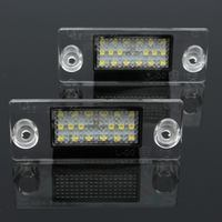 2PCS Pair Car Styling 12V Auto Car LED License Number Plate Lights Daytime Running Light For