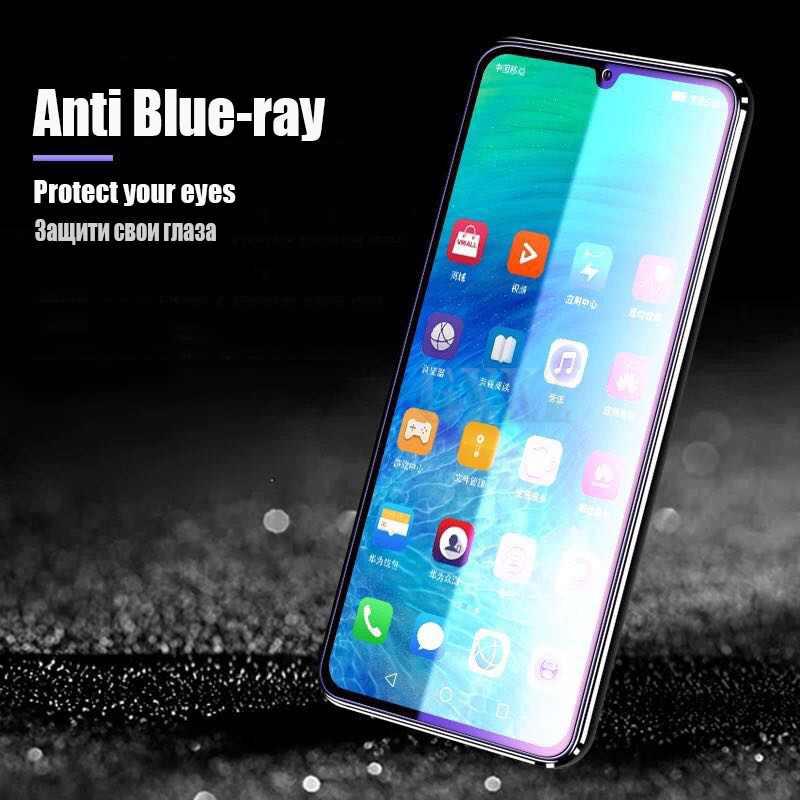 Full Cover Tempered Glass For Huawei P30 P30 lite Anti Blu ray Full screen Tempered glass For Huawei P20 PRO P20 Glass film in Phone Screen Protectors from Cellphones Telecommunications