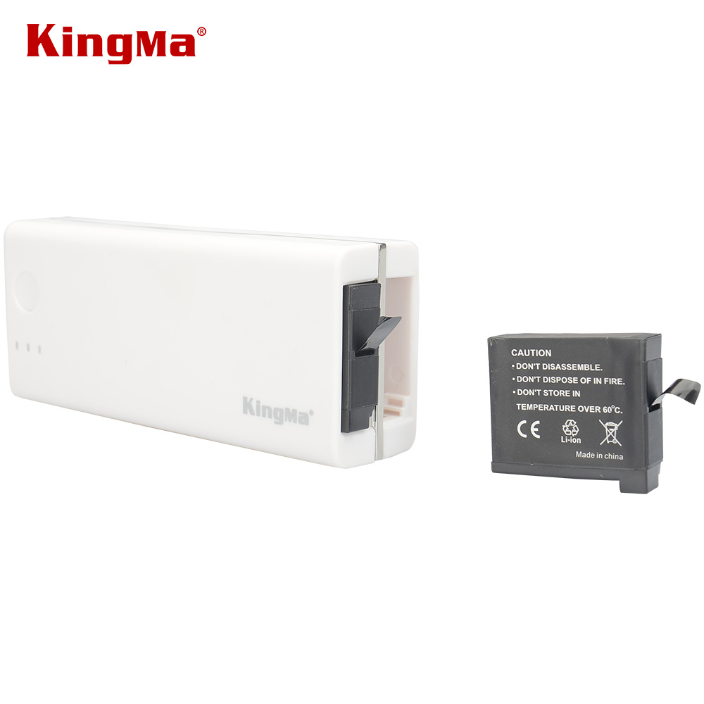 KingMa Polymer Mobile Power Bank Portable Rechargeable USB gopro 4 dual battery Charger External Pack for Iphones Ipads and More original romoss polymos 10 air 10000mah dual usb li polymer power bank