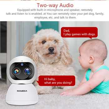 INQMEGA Cloud 1080P 2MP Dual-Lens Wireless IP Camera Wifi Auto Tracking Indoor Home Security Surveillance CCTV Network Camera 4