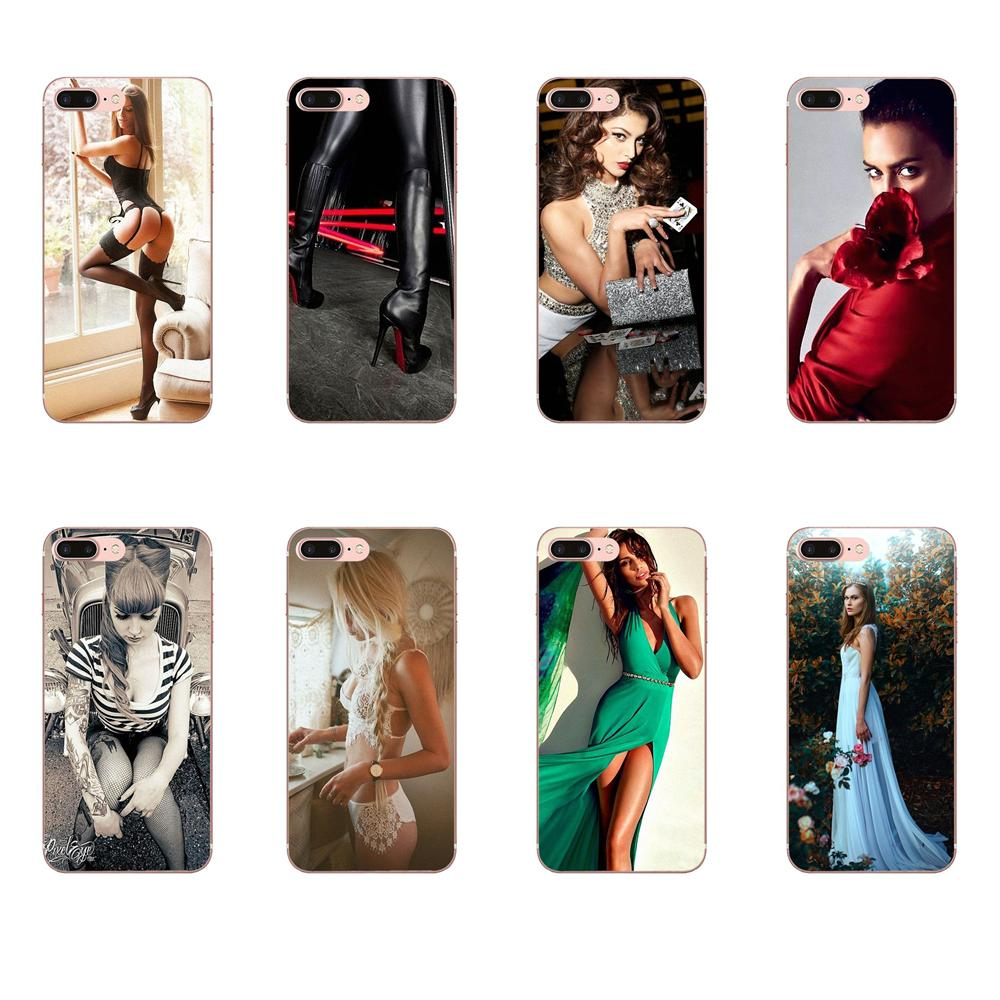Soft Pattern For Apple <font><b>iPhone</b></font> X XS Max XR 4 4S 5 5C 5S SE 6 6S <font><b>7</b></font> 8 <font><b>Plus</b></font> Hot <font><b>Sex</b></font> Sexy Girl image