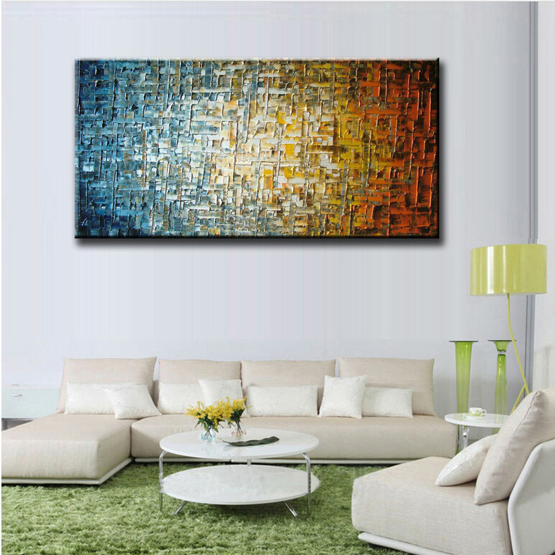 Hand Painted High Quality Palette Knife thick oil painting Canvas Wall Decor Artwork Fine Ar hotel bart