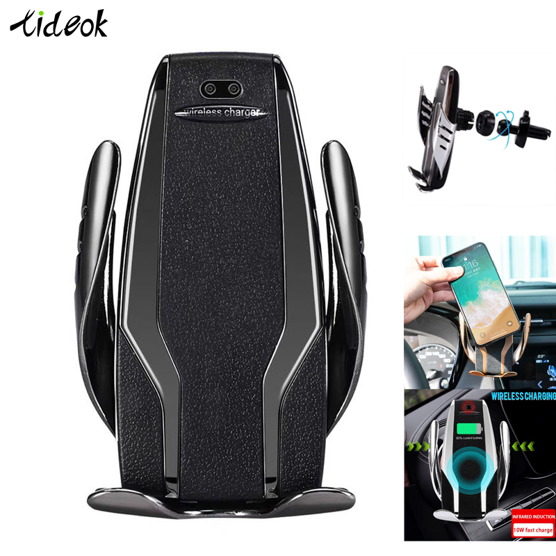 Automatic Clamping Car Phone Holder Wireless Charging Car Charger Holder Mount Air Vent For IPhone Xs Max XR Samsung Fast Charg