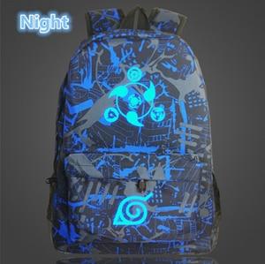 Image 2 - Japan Anime Naruto Backpack Printing Cool Night Lumious School Bag for Teenagers Cartoon Travel Rucksack Oxford Mochila Galaxia