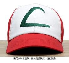 Cosplay boné nova viseira pokemon cinza ketchum traje cosplay chapéu pokemon boné cinza ketchum chapéu
