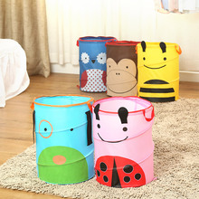 Free Shipping,oxford fabric Bucket Earmuffs dirty Clothes Clothing Toy basket Organizer Sundries Foldable Storage bucket