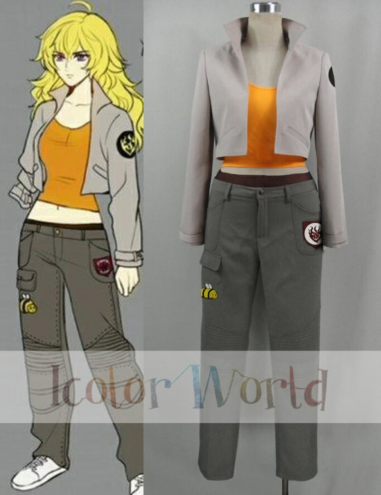 RWBY Yang Xiao Long Volume 4 New Outfit Cosplay Costume