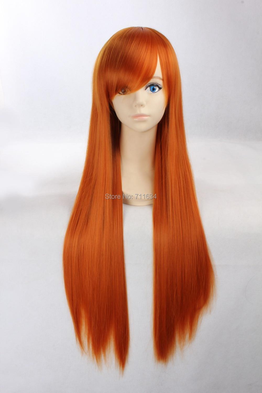 80cm Cosplay Wigs Bleach Orihime Inoue Straight Long Orange Anime