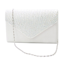 Elegant Silk Face Small Evening Bag