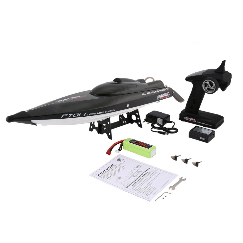 Feilun FT011 65cm 2.4G 2CH RC 55km/h High Speed Racing Boat Ship Speedboat with Water Cooling System Flipped Brushless Motor feilun ft011 65cm brushless water cooling high speed racing boat rtr 2 4ghz f18144