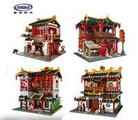 Xingbao 01002 01003 01004 MOC Creative Series The Lovely Tavern Set Kids Education Building Blocks Bricks Boy Toys Model Gift