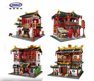 Image 4 - Xingbao série créative 01024 01003 01004 01002 ensemble de taverne créative, éducation pour enfants, blocs de construction en briques, jouet, modèle en cadeau
