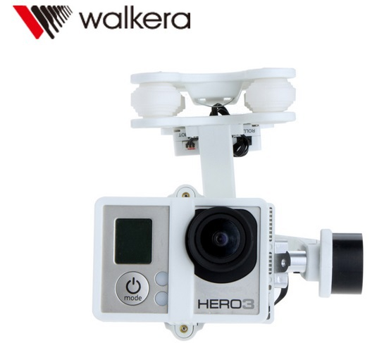 walkera g 2d 2 axis brushless gimbal for gopro hero 3 camera Original Walkera G-2D Brushless Gimbal White for iLook/ilook+/GoPro Hero 3 Camera on Walkera QR X350 Pro Free Track Shipping