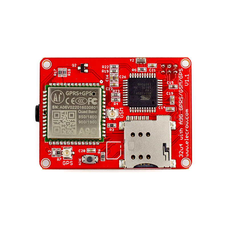 US $17 99 10% OFF|Elecrow ATMEGA 32u4 A9G Module GPRS GSM GPS Board Quad  band 3 Interfaces GPRS DIY Kit GPS Sensor Wireless IOT Integrated  Modules-in