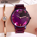 GEDI Ladies Watch Fashion Casual Stainless Steel Strap Women's Woman Watch Top Brand Luxury Clock Female Wristwatch reloj mujer|Women's Watches|   -