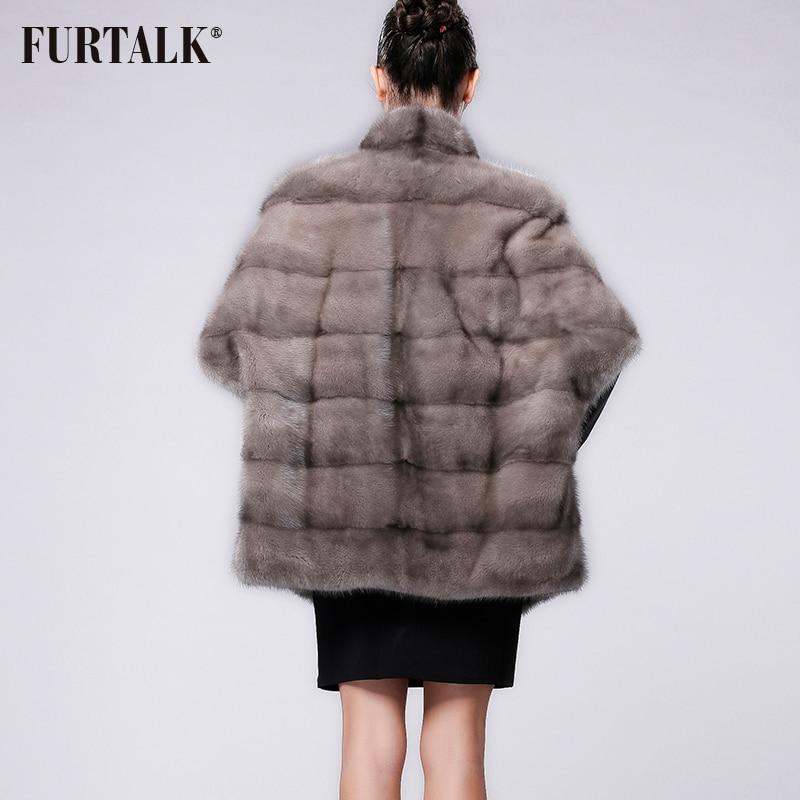 FURTALK العلامة التجارية الروسية الشتاء المرأة ريال الطبيعية فرو منك معطف-في فراء حقيقي من ملابس نسائية على  مجموعة 3