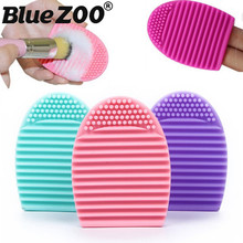 1PC Women Makeup Brush Cleaner Silicone Glove Scrubber Wash Cleaning Brushes Egg Silica Gel Cosmetic Brush