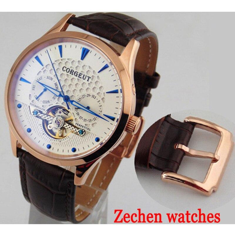 лучшая цена 41mm corgeut mechanical watch automatic date men's watch waterproof automatic mechanical watch