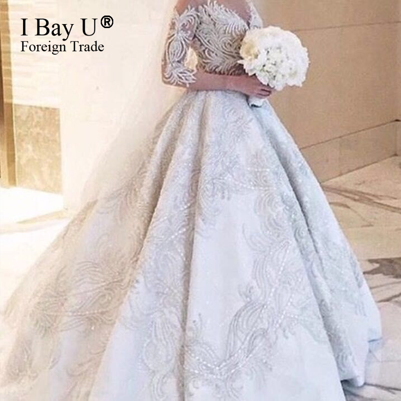 Queen Style Wedding Dresses | perlabook.com