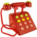 Children's early education educational wooden toys simulation cognitive digital strawberry telephone play wooden toy suit