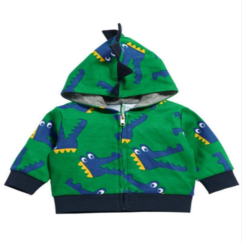 Boys Animal Hoodies Kids Spring Autumn Clothes Dinosaur Zipper Coat Children Fashion Sweatshirt 2-6 Years Baby boys Clothing 4