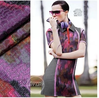 Purplenew technologie mode épaississement quilting tissu de vente chaude
