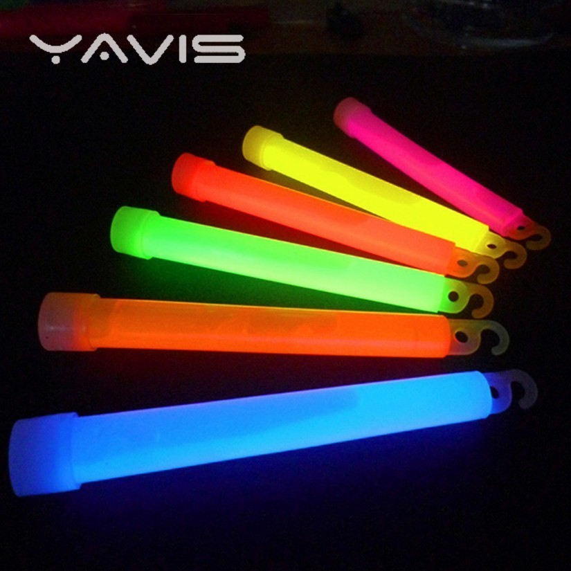Outdoor Tool Bring Hook Seven Color Fluorescence Good Camp Emergency Lighting Hiking Party Light 6 Inch 5 Pcs