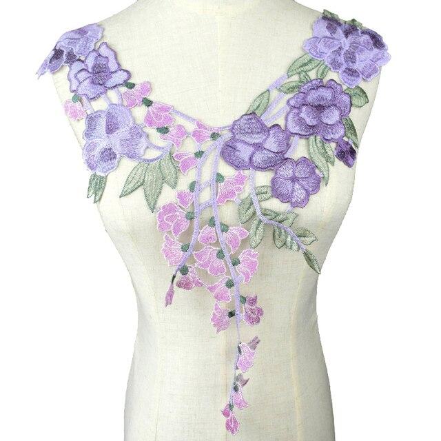Вышитая кружевная ткань DIY вырез воротник костюм украшение швейная фурнитура одежда аппликация Швейные принадлежности