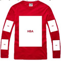 2014 Famous Brand Hood By Air Men's Long Sleeve T-Shirt Men Hip Hop HBA Tee Shirts Man Rap 8 Styles Cotton Free Shipping