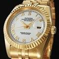 SANGDO relógio de luxo homens de ouro Luminoso calendário à prova d' água de aço Inoxidável mecânico Automático relógio masculino relogio