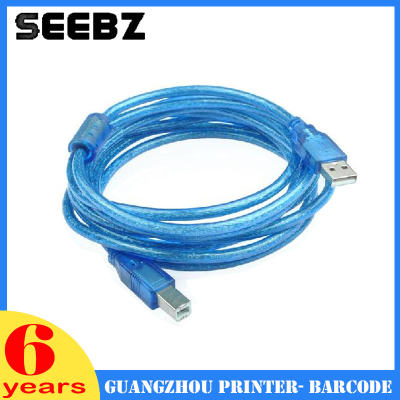 SEEBZ Printer Parts 3meter USB Printer Cable For LQ630K 635K Blue best price 5pin cable for outdoor printer