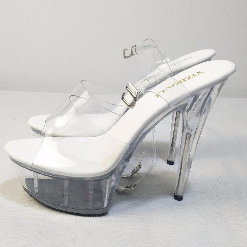 stern modell plattform Klarem tanz Raum Schuhe pole leistung Cm Hochzeit Freier 15 Superabsatz Kristall Voll Schuhe zaAvfa