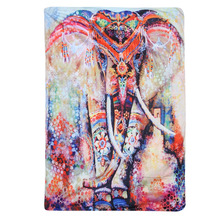 Elefante Indio Mandala Tapiz Tapiz de Color Impreso Decorativo Hogar Alfombra De Pared Toalla de Playa de Boho Totem Imprimir 148*210 cm