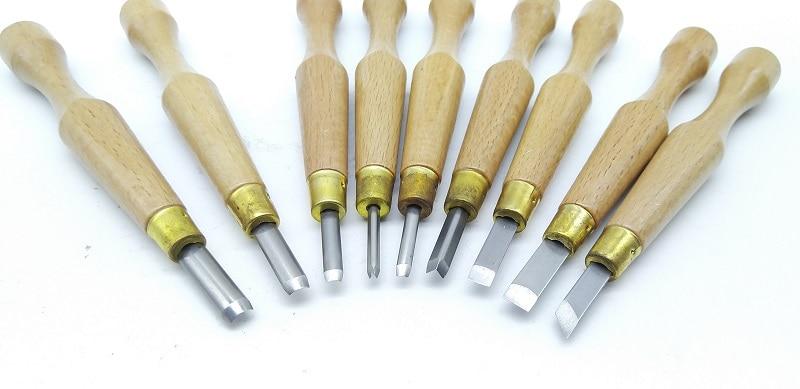 Cortador de Mão Nova Faca Hobby Artesanato Artes Precisão Scorper Graver Burin Carving Tools Cinzel Escultura Faça Você Mesmo 9 Pcs
