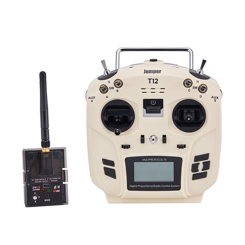 лучшая цена Jumper T12 OpenTX 16CH Radio Transmitter Remote Controller with JP4-in-1 Multi-protocol RF Module for Frsky JR Flysky Part