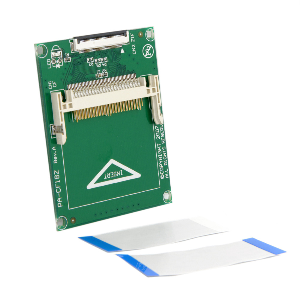 Cablecc 1 8 Compact Flash CF Memory Card to CE Toshiba Ipod ZIF SSD HDD Adapter