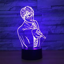 Handsome Men 3D Night Light LED Baby Sleeping Night Lamp Remote Touch Switch USB 7 Color Change Table Desk Lampe Best Gift