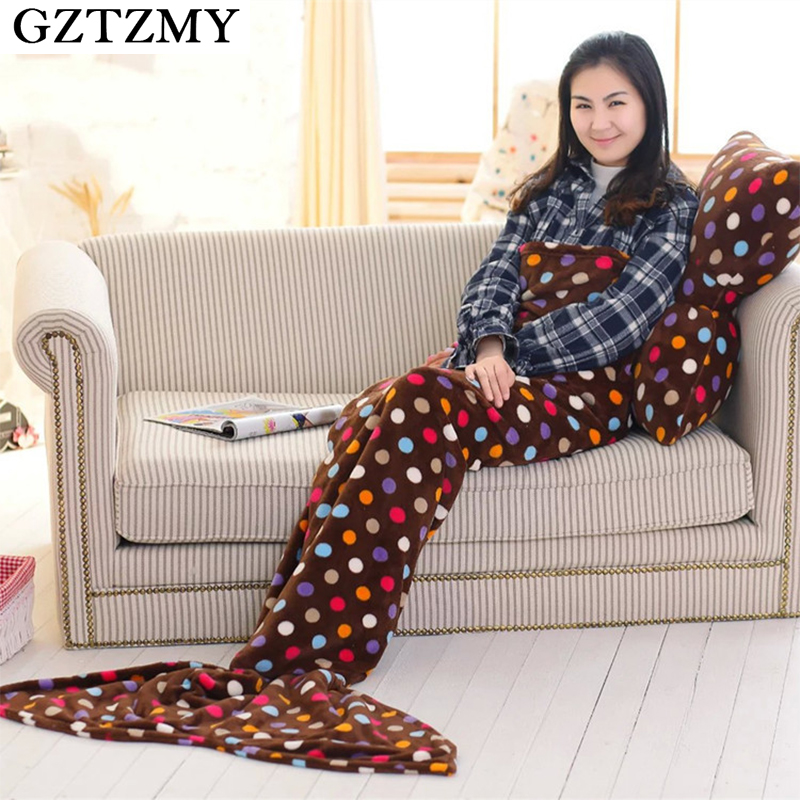 GZTZMY Butterfly Pillow Mermaid Blanket Bedding Little Mermaid Tail Blanket For Children Bed
