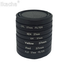 7 em 1 Camera Filtro 37mm UV CPL FLD ND4 Vermelho Mar Amarelo Filtro de mergulho + Anel + Tampa Da Lente Para Gopro Hero 3 + 4 3 além de