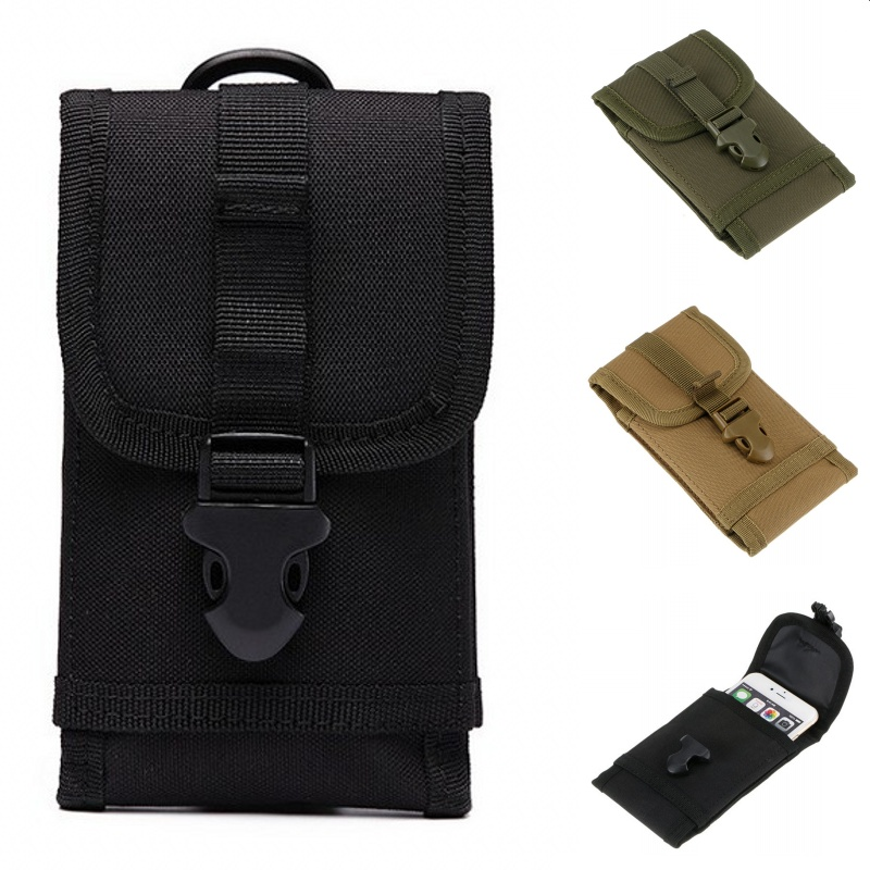 CQC 6 Inch Molle System Tactical Phone Pouch Belt Nylon Waterproof Military Cell Phone Case Holder Mobile Phone Bag