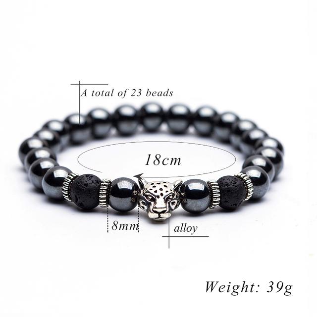 Hematite Stone Bead Strand Bracelet