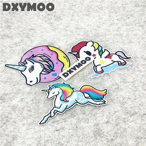 Autoaufkleber Einhorn Wolke Mädchen Flauschig Bunt Farbe Pferd Sticker Sytling