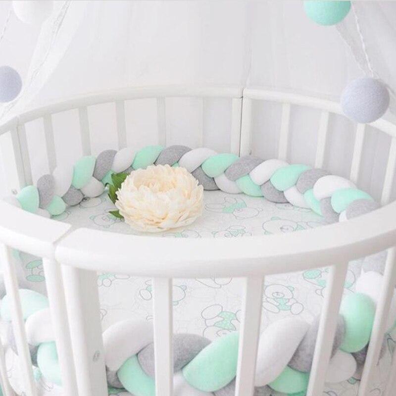 3 M longueur bébé lit pare-chocs noeud conception nouveau-né berceau Protection infantile sécurité Crashproof lit bébé chambre décoration enfant photographie