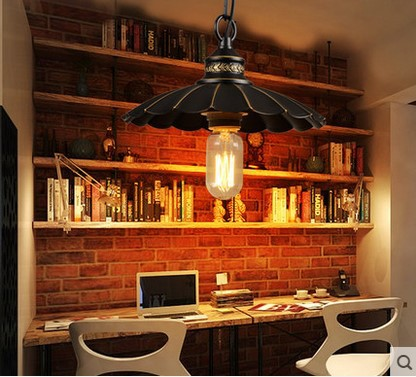 60W Edison Retro Vintage Pendant Light Fixtures Style Loft Industrial Lamp With Black Lampshade Lamparas Colgantes america country led pendant light fixtures in style loft industrial lamp for bar balcony handlampen lamparas colgantes
