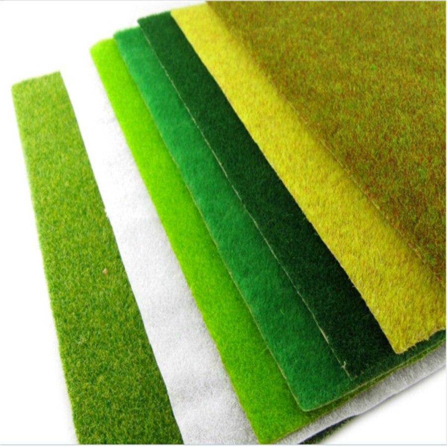 0.25m-2.5m Landscape Grass Mat for Model Train building Paper Scenery Layout Lawn