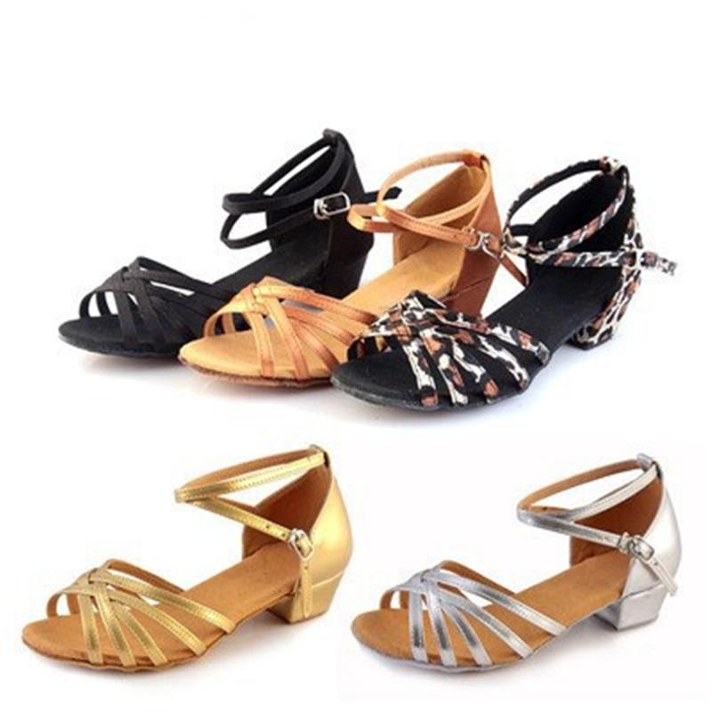 High Quality New Arrival Wholesale Girls Children/child/kids Ballroom Tango Salsa Latin Dance Shoes Low Heel Shoes