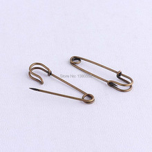 30pcs/lot 50*10mm  bronze color Safety Pins Decoration charming pins Garment Accessories