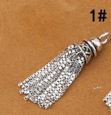 925 Серебряная кисточка DIY браслет кисточка чистое серебро ювелирные изделия кисточка - Цвет: Style 1