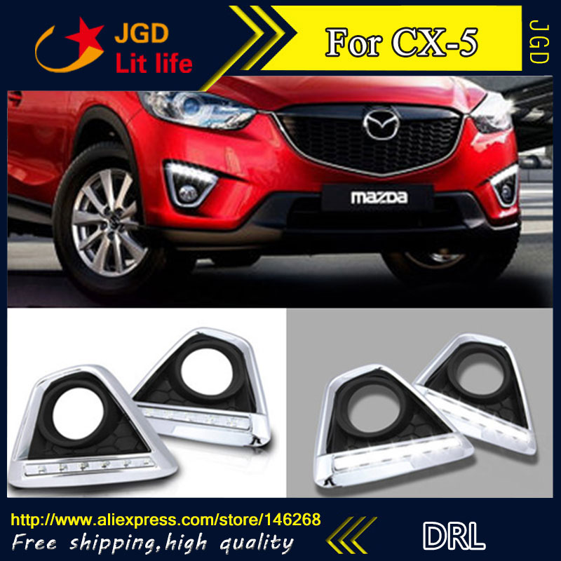 Free shipping ! 12V 6000k LED DRL Daytime running light for Mazda CX-5 fog lamp frame Fog light Car styling music fax f18 high power class a power amplifier board 200w 2 diy hifi amplifiers mono amplifier board 1 sets 2pcs