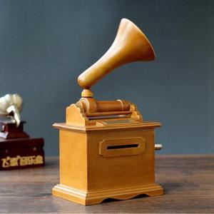Image 3 - Горячие DIY бумажная лента музыкальные коробки деревянный ручной фонограф музыкальная шкатулка деревянные ремесла Ретро подарок на день рождения винтажный дом